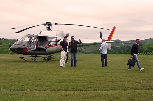 Private helicopter tour of Barolo area